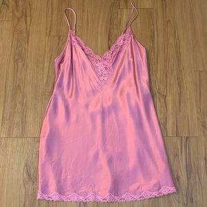 Victoria's Secret 100% Silk Pink Slip Lingerie